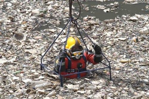 Top 10 Worst Jobs In The World, Hazmat diver