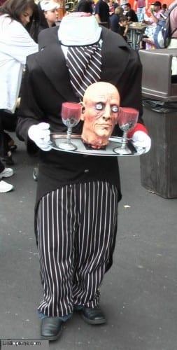 Headless Butler , innovative Halloween costumes 2020