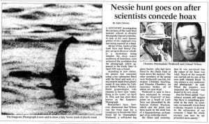 The Loch Ness Monster , unsolved mystery of the world