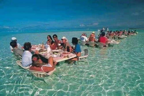 Top 10 Stunning Places - Sea Restaurant, Bora Bora Island