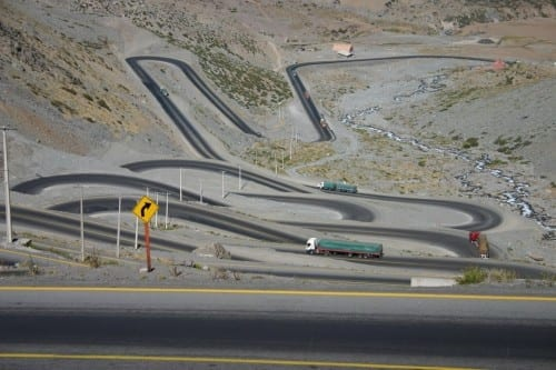 10 Most Beautiful Highways -  Los Caracoles Pass, Andes