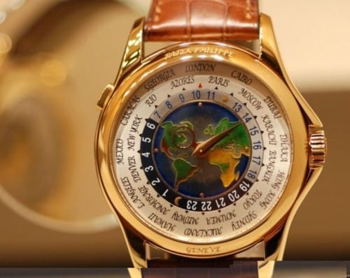 MOST EXPENSIVE WATCHES - Patek Philippe 1928 Single Button Chronograph Watch - Patek Philippe Platinum World Time - $4.03 million