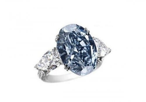 Top 10 Most Expensive Jewelry - Chopard Blue Diamond Ring- $16.26 million