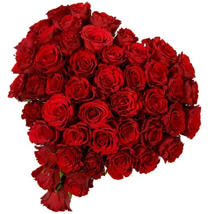 Valentine's Day Gifts For Your Girlfriend -  Red Heart Bouquet