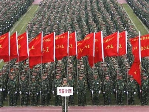 largest army in the world - China