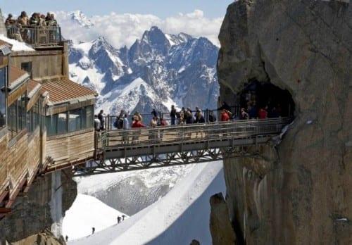 Most Dangerous Bridges In The World - Aiguille du Midi Bridge