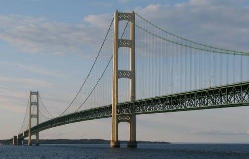 Most Dangerous Bridges In The World - Mackinac Bridge
