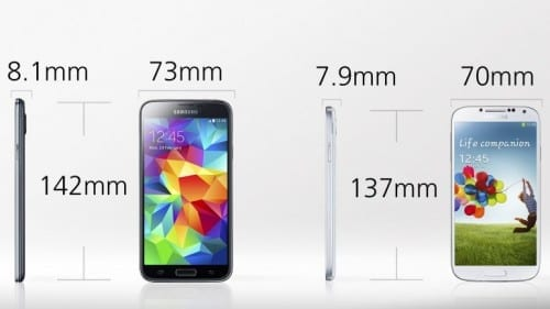 Differences Between Samsung Galaxy S4 And Galaxy S5 - Design