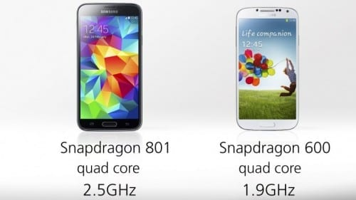 Differences Between Samsung Galaxy S4 And Galaxy S5 - Processor