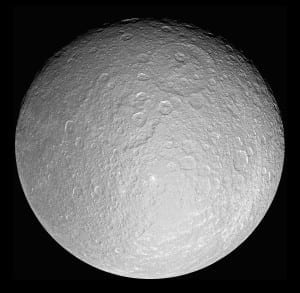 Top 10 Largest Planetary Moons - Rhea, Saturn