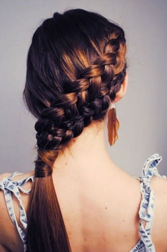 beautiful hairstyles for women 2019 - double French braid