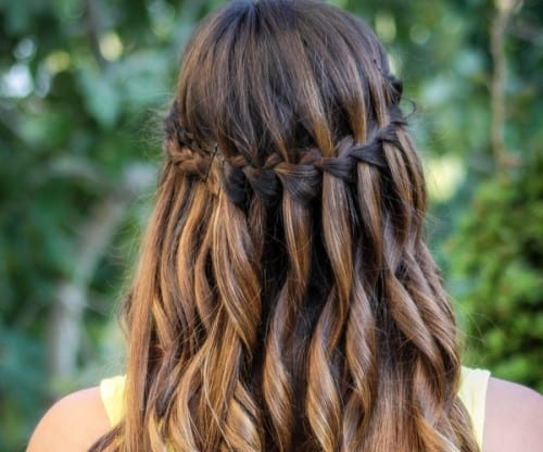 beautiful hairstyles for women 2019 - waterfall braid