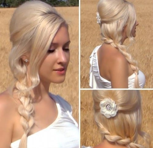 10 Best Bridal Hairstyles For Women 2018 - Beautiful bridal braid