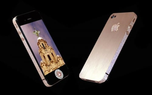 Most Expensive Mobile Phones In 2020 - 2. iPhone 4 Diamond Rose Edition