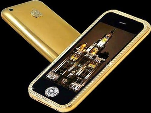 Most Expensive Mobile Phones In 2020 - 3. iPhone 3GS Gold Striker Supreme