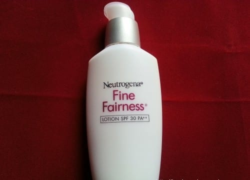 Neutrogena Fine Fairness - best fairness creams