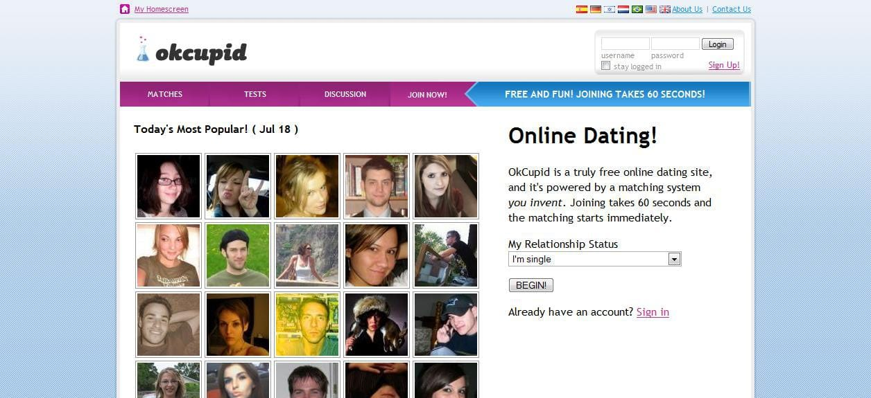 The most popular dating site in the world