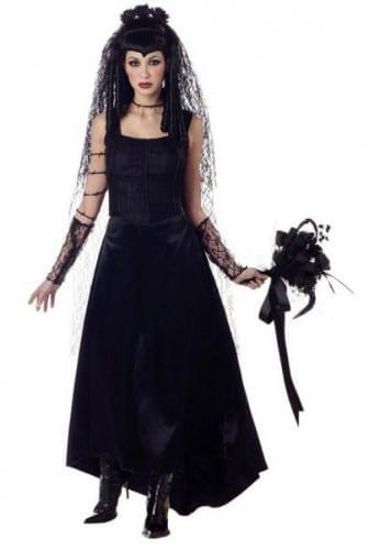 Best Halloween Costume Ideas 2020 -  Bride in Black Costume