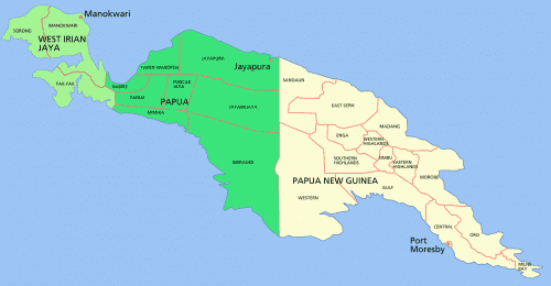 New Guinea, Southwest Pacific