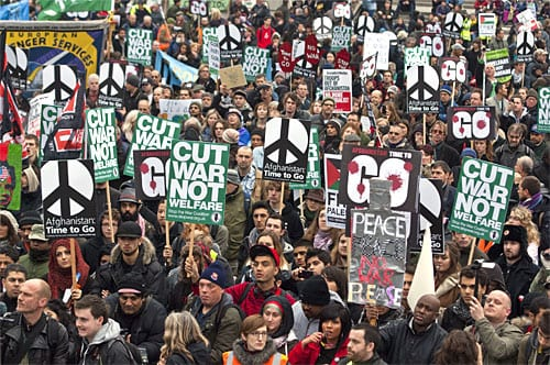 Protests Against The War In Afghanistan