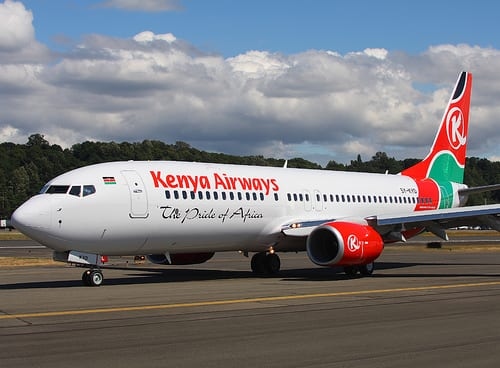 Top 10 Airlines With Most Crashes - 9. Kenya Airways