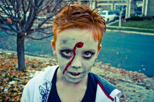 Gallery For &gt Zombie Makeup For Kids Halloween - Simple Halloween Makeup For Kids