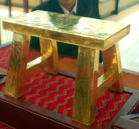 Most Expensive Furniture Brands - Solid gold stool