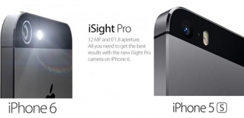 camera comparison in iphone 5s and iphone 6