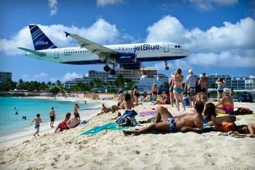Top 10 Most Famous Beach Points - Maho Beach, Saint Martin