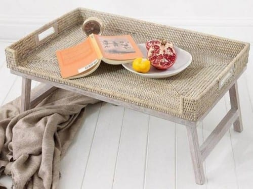 Rattan Breakfast Tray