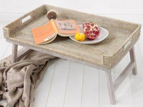 Rattan Breakfast Tray