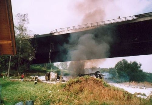 Tanker Truck Explosion On Wiehltal Bridge, 2004