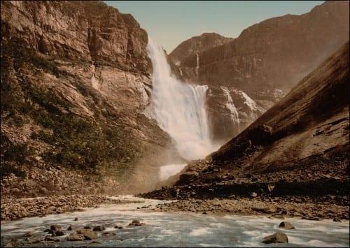 Tyssestrengene waterfalls, Norway -