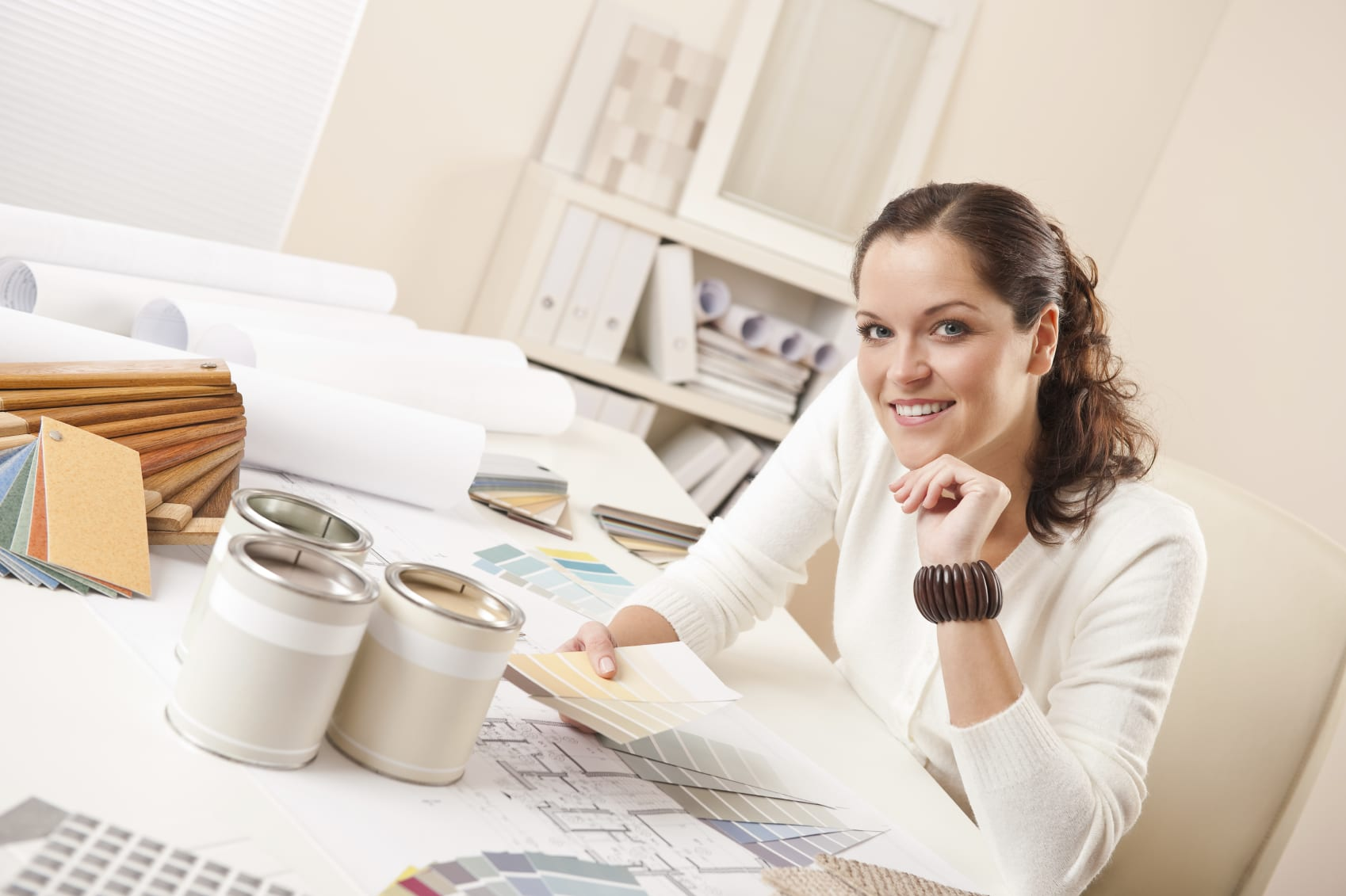 Young Female Interior Designer At Office The First Rule For A Part Time Job