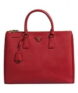 Prada BN1786 Authentic Bag-Red Fuoco Saffiano Lux Calf Leather Handbag