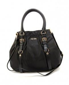 Prada BR4258 Tessuto Nylon Handbag Nero
