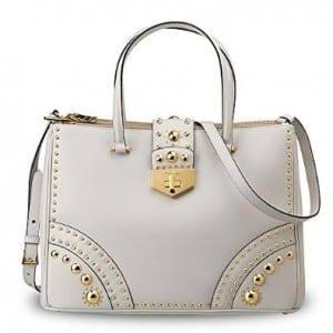 Prada Leather Saffiano Metal Studs Handbag