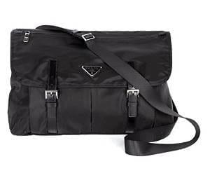 Prada Nylon Messenger Bag, Black