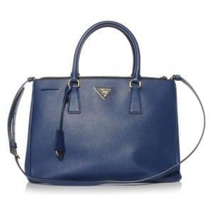 Prada Saffiano Lux Medium Tote Bluette BN2274