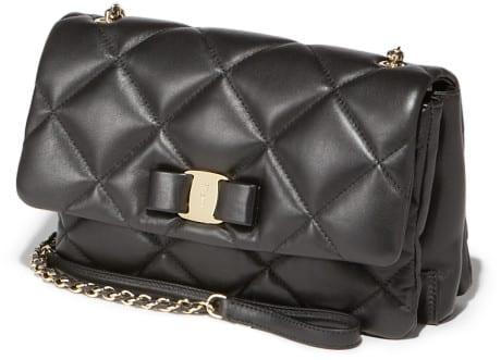 Salvatore ferragamo Medium Quilted Vara Flap Bag