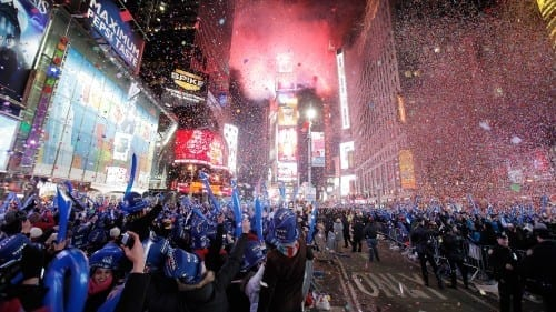 Celebrate New Year at Times Square