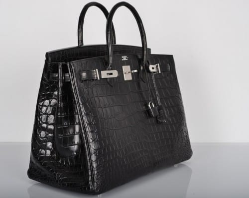 Hermes Matte Crocodile Birking Bag