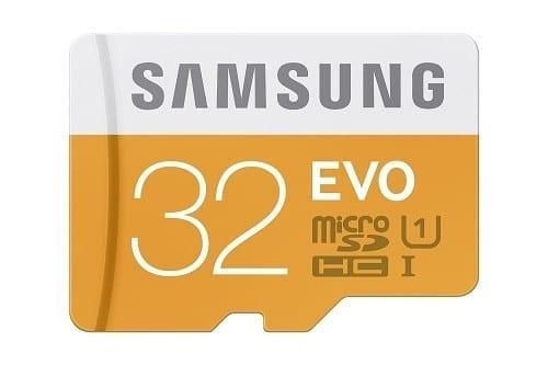 Samsung 32GB EVO Class 10 Micro SDHC