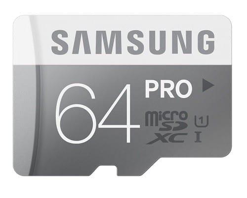 Samsung 64GB PRO Class 10 Micro SDXC